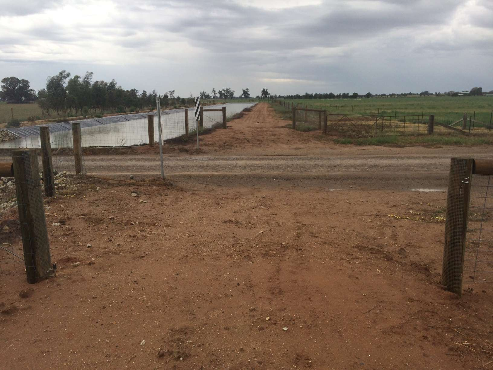 A missing gate off Morris Road in Yalca