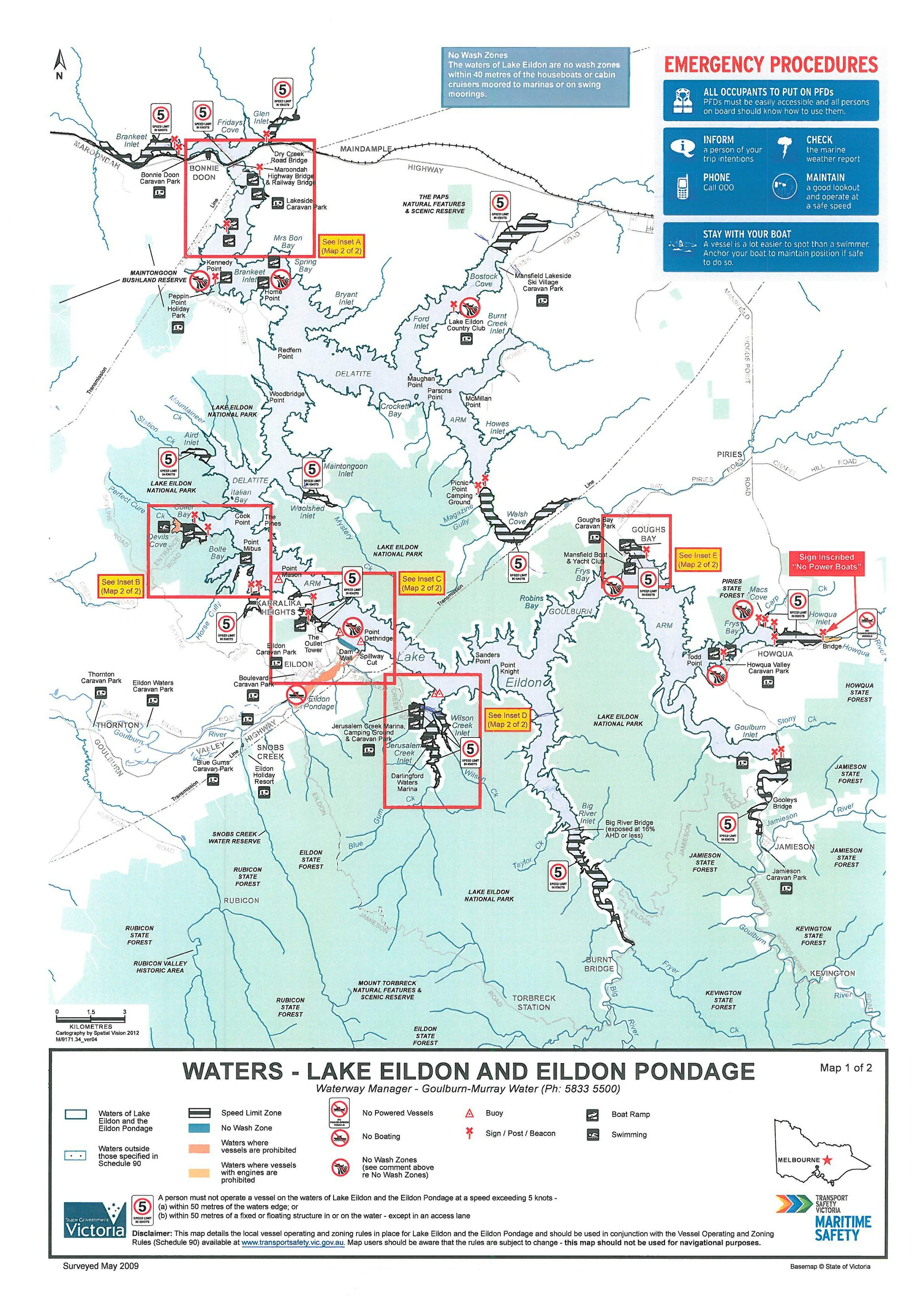 Click on the map below to view boating and c&ing facilities. For more information visit the TSV website.  sc 1 st  Goulburn Murray Water & Lake Eildon - Goulburn Murray Water