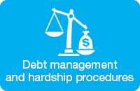 Debt management and hardship procedures