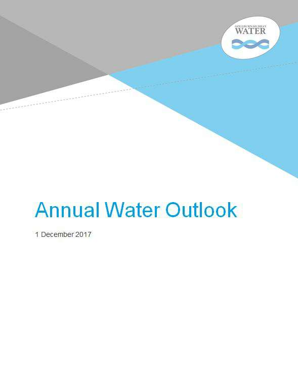 Annual Water Outlook 2017/18